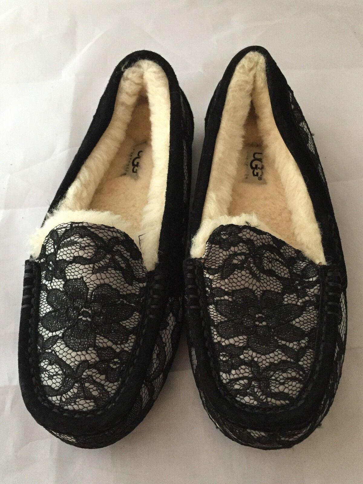 87b3a265137 UGG Australia Ansley Antoinette Black Lace SLIPPER Women Size 5