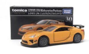 Tomica-premium-coche-modelo-1-62-nr-30-Lexus-LFA-nurburgring-paquete-Takara-Tomy