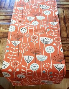 New-36-034-48-034-54-034-64-034-Table-Runner-montagnes-Burnt-Orange-Scandinavian-Floral-Print
