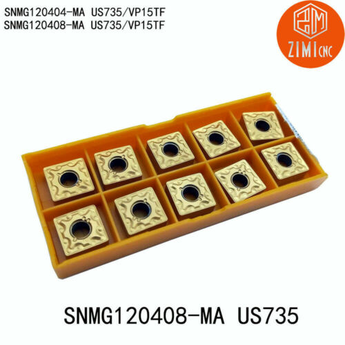 SNMG120408 MA US735//SNMG432 square carbide inserts milling cutter blades cabide