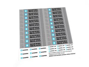 Inc painéis frontal e traseira! Adesivos Personalizados Para Lego 10152 Maersk Sealand 10155