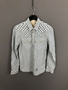 LEVI-S-Shirt-Size-Small-Check-Great-Condition-Men-s