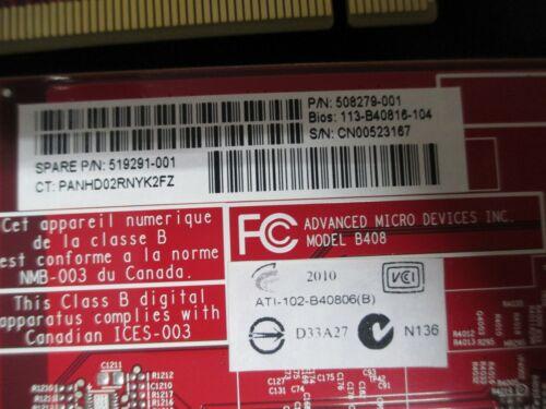 HP ATI FirePro V3700 Graphics Video Card 256MB GDDR3 64 bi 508279-001 519291-001