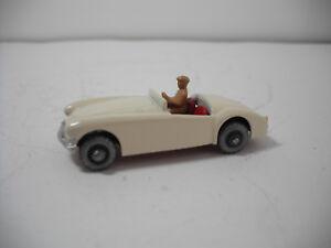 Vintage Moko Lesney Matchbox #19B MGA SPORTS CAR WHITE  BODY,GMW RESTORED NM!
