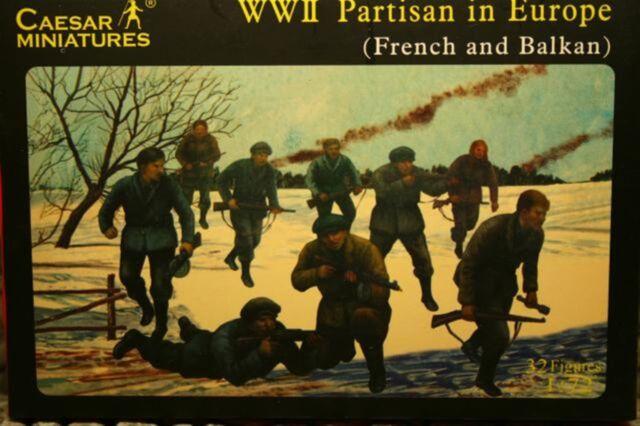 Caesar Miniatures 056 , 1/72 WWII Partisan in Europa