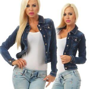 5673 Damen Jeansjacke Damenjacke Jeans Jacke Kurze Jacke