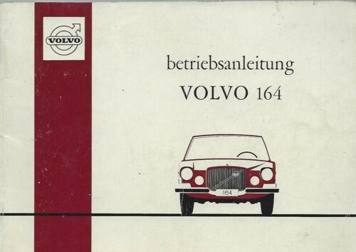 VOLVO 164 manuale di istruzioni 1969 MANUALE MANUALE bordo libro BA