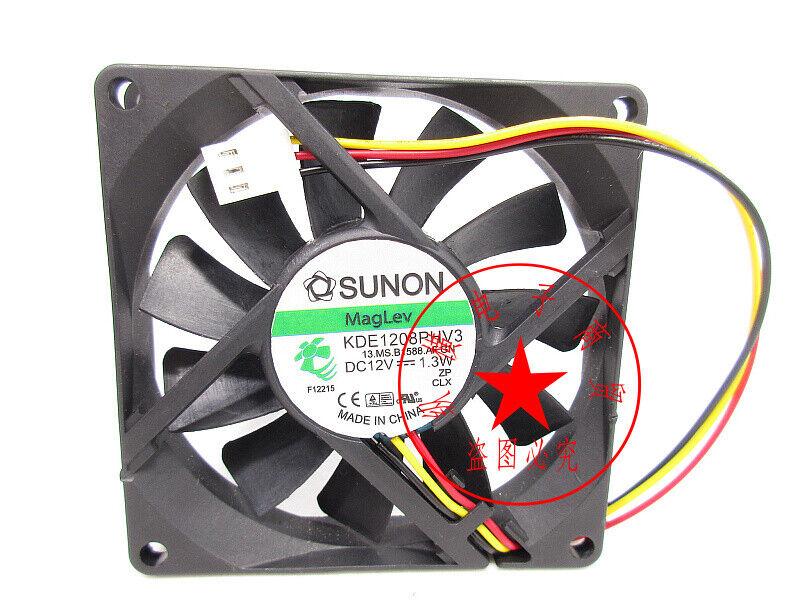 1PC SUNON KDE1208PHV3 DC12V 1.3W 8CM chassis power cooling fan