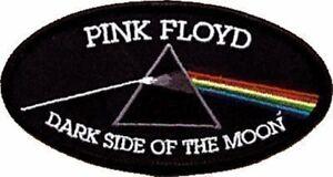 Pink-Floyd-Dark-Side-Ovalado-con-Plancha-para-Coser-Tela-Parche-Cv