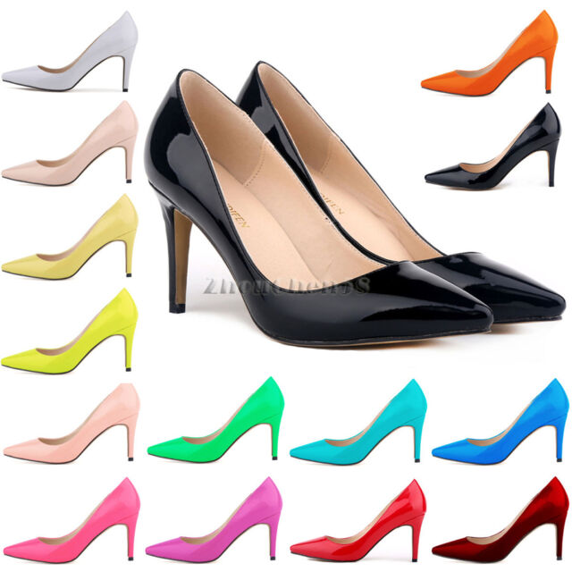 ZriEy Womens High Heels Ladies Sexy Stilettos Pumps Courts Party Wording Shoes