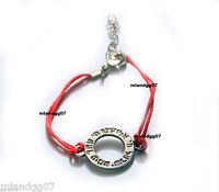 Red Kabbalah Bracelet Silver  Shema Israel Circle Jewish Prayer Hebrew Gift