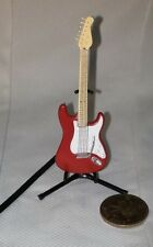 F-Toys Guitar Mono 1:12 scale NOVELTY Stratype Stratocaster Red  1A