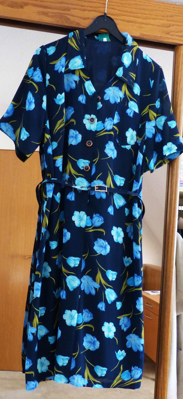 Kleid Blaumen Blau Canda 42 Neu  C&A Blaumenkleid Hochzeit Standesamt Feier Tai