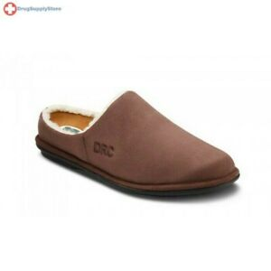 Dr-Comfort-Easy-Slippers-Wide-Men-Diabetic-Open-Heel-W-Gel-Inserts-Free-Exchange
