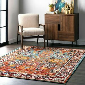 nuLOOM-Traditional-Transitional-Vintage-Floral-Mallory-Multi-Area-Rug