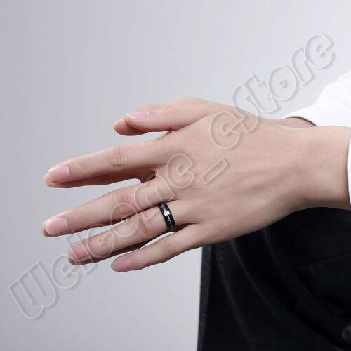 Cadeau pour Hommes Forever Love ECG Heartbeat Titane Acier Band Ring Taille 7,8,9,10
