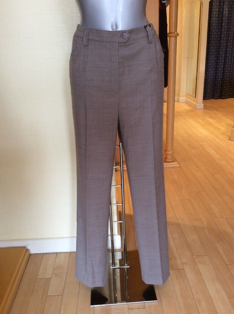Michele Trousers 'bluee Dot' Size 14 BNWT Light Brown RRP  Now