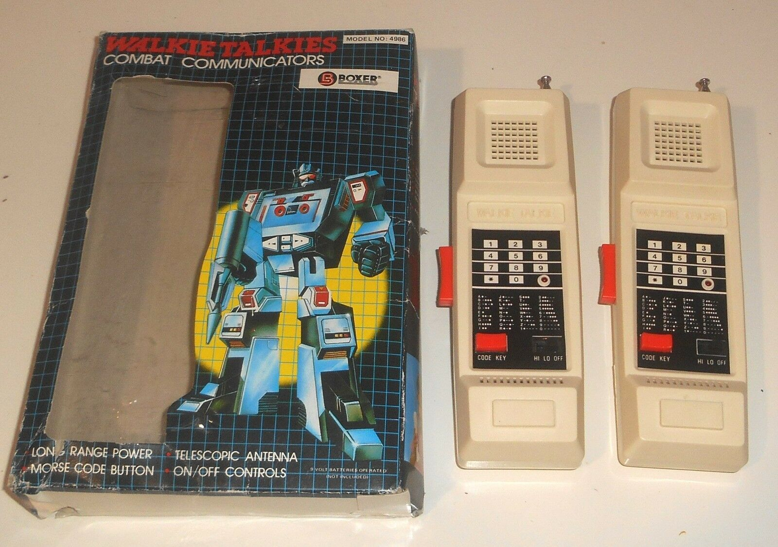 Vintage 1980's Boxer Electronics  Walkie Talkie  COMBAT COMMUNICATORS Boxed 2