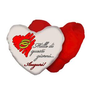 Auguri Anniversario Matrimonio.Cuscino A Forma Di Cuore Con Scritta Anniversario Matrimonio