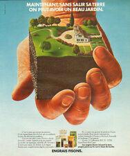 Publicité 1975  ENGRAIS FISONS pour avoir un beau jardin !