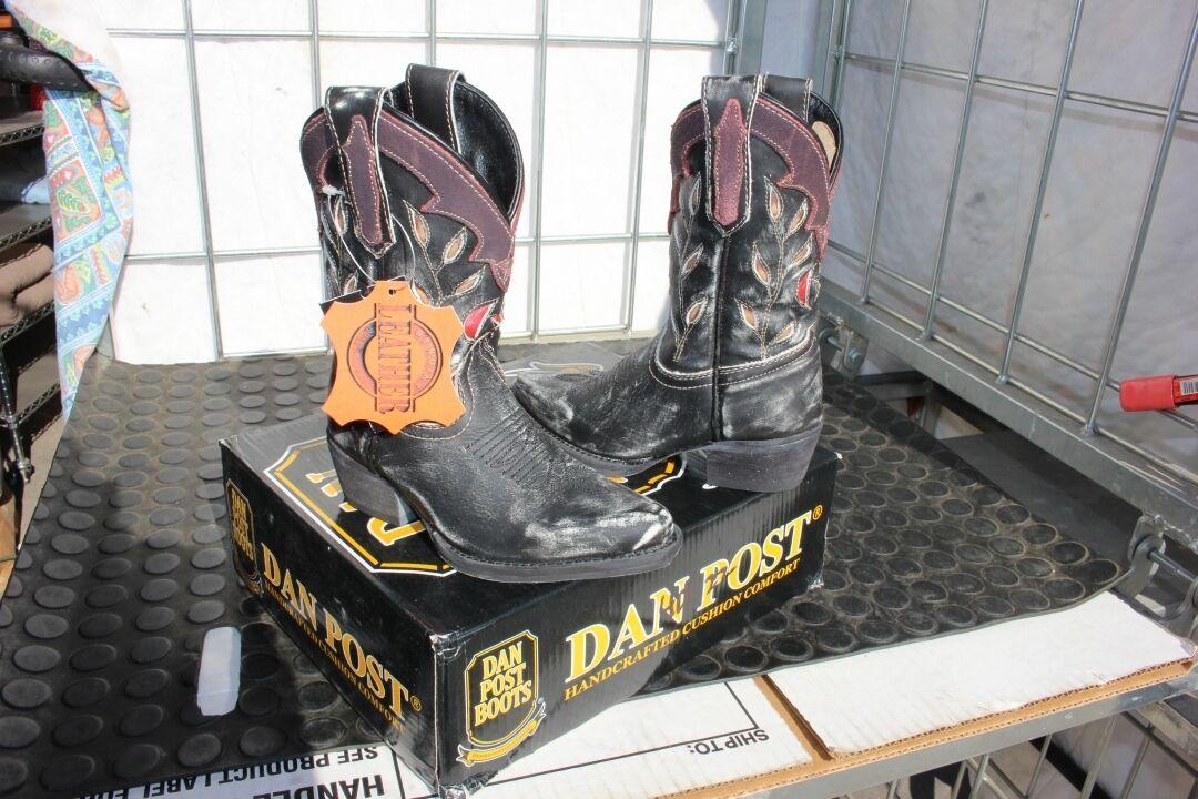 40-23 New   ld 10M Dan Post g  distress inlay western boots was 89.99  fantastic quality