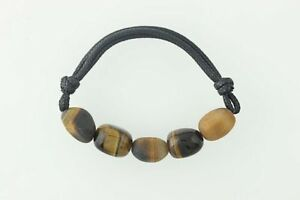 New-Chunky-Tiger-039-s-Eye-Bracelet-Brown-Stone-Beads-Stretch-Band-7-5-034