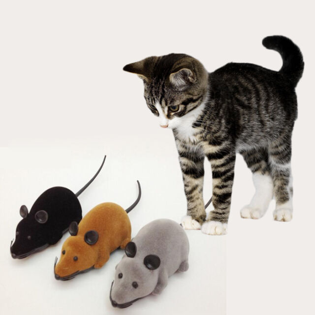 Novelty Funny RC Wireless 3 Colors Remote Control Rat Mouse Toy For Cat Dog Pet