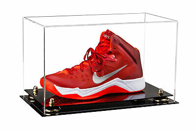 Basketball Shoe Acrylic Display Case with Mirror and Black Risers A013-BR