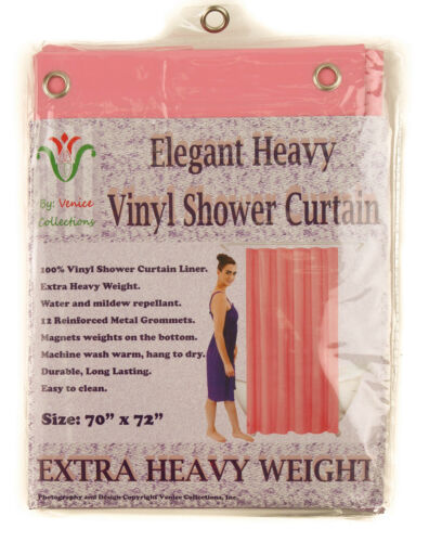 """10 Mil Heavy Duty Vinyl Shower Curtain Liner with Metal Grommets size 70 x 72/"""""""