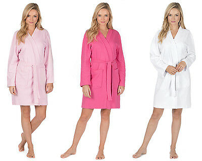 Ladies Forever Dreaming Cotton Rich Summer Waffle Bath Robe Dressing Gown S-XL