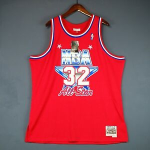 finest selection 65e24 45e5a Details about 100% Authentic Magic Johnson Mitchell Ness All Star Swingman  Jersey Size 2XL 52