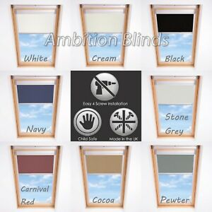 BLACKOUT-SKYLIGHT-ROLLER-BLINDS-FOR-VELUX-ROOF-WINDOWS-THERMAL-FABRIC-ALL-SIZES