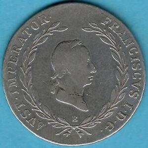 Osterreich-Kaiser-Franz-I-1806-1835-20-Kreuzer-1828E-Silber-Muenze