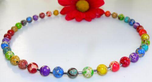 Cadena collar Edelstein joyas perla jaspe multicolor multicolor multicolor 213z