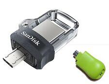SanDisk 64GB OTG Ultra Dual microUSB 64G USB 3.0 Pen Drive SDDD3-064G with T02