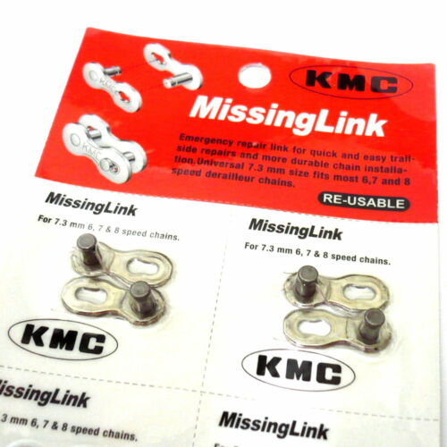 Re-Usable 2 pairs gobike88 KMC missing link for 6 /& 7 /& 8 speed 313 Silver