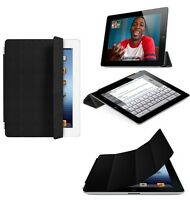 Genuine Apple Ipad 2 & 3 Leather Smart Cover Black Mc947ll/a New, Factory Sealed