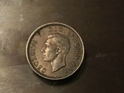 RARE SILVER 6 PENCE LOT 1938-1946 LOT 7 COINS WW2 Great Britain UK