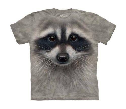 Raccoon Face Close Up Animal Big Boys T-Shirt Tee