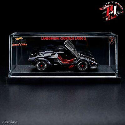 2020 Hot Wheels RLC Exclusive 82 Lamborghini Countach LP500S Car Black In-Hand