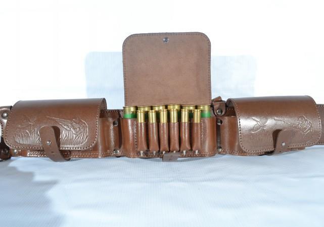 Gewehrpatrone Munition Gürtel Patronengürtel Halterung Leder W 36 Taschen 100%