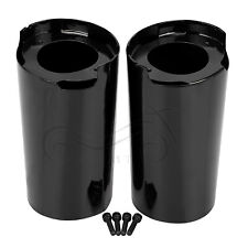 "Drag Specialties 0411-0119 2/"" Extended Black Fork Slider Covers 2014-up Harley"