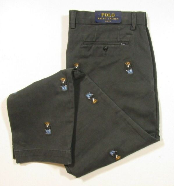 Polo Ralph Bear Pants Chino Lauren Embroidered Slim Fit Men's fbY7gyv6