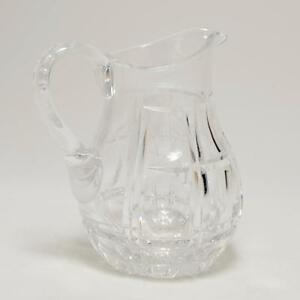 Apprehensive Vintage Rexxford Crystal Pitcher Chesterfield Pattern Germany Signed To Enjoy High Reputation In The International Market Pitchers