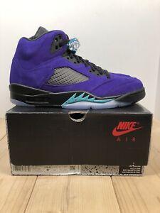 Details about Air Jordan Retro 5 Reverse Grape Basketball Shoes Mens Size 8.5 Womens Size 10