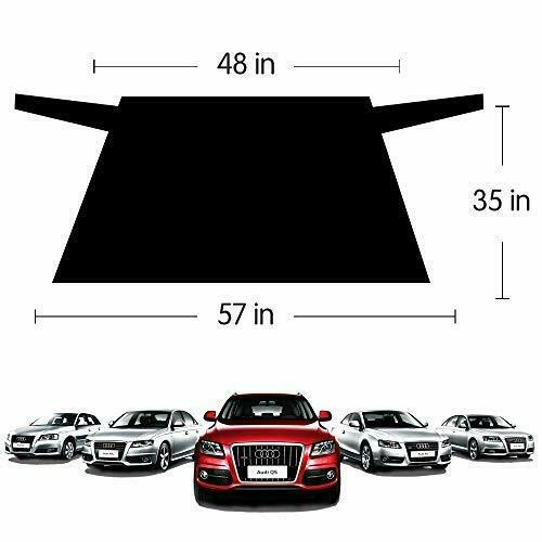 """Rear Windshield Snow Cover Protector Ice Removal Frost Fit for Most Cars 55/""""x35/"""""""
