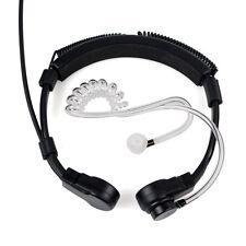 1 Pin PTT Throat MIC Covert Acoustic Tube Earpiece Headset for Motorola+Ear Bud