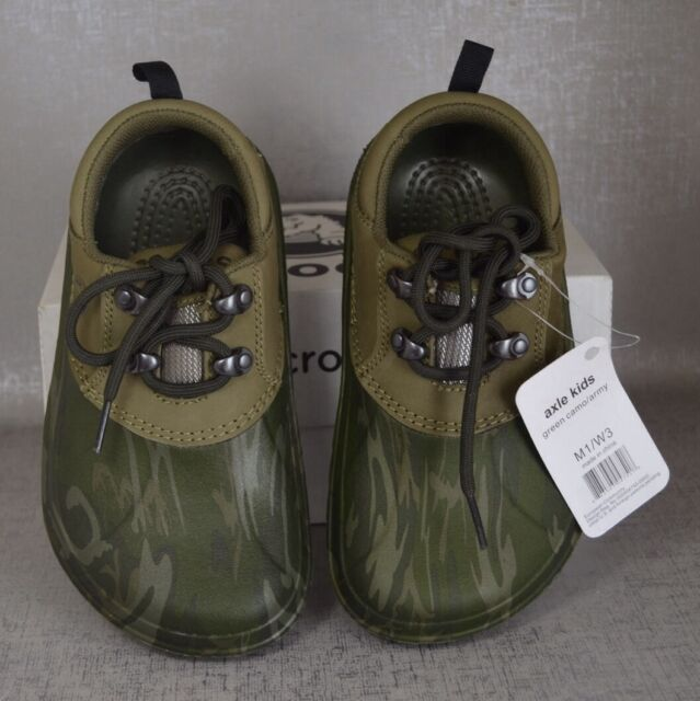 98b9d704c1b88 Crocs Axle Camo Army Water Clog Junior M 1 W 3 Lace Shoes Hunt Camp Fish  Boat for sale online | eBay