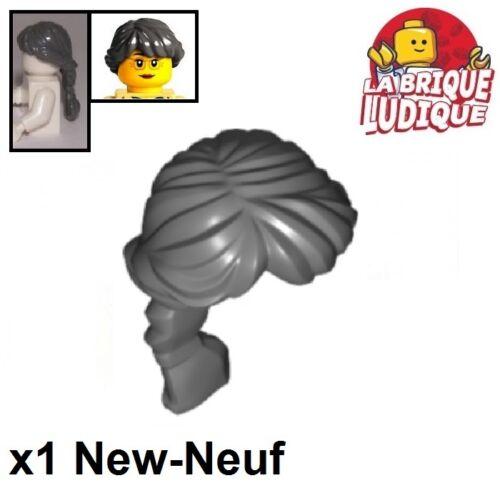 1x Minifig Haare Frisur Hair Lang Grau F Lego Dark B Gray 88286 Neu