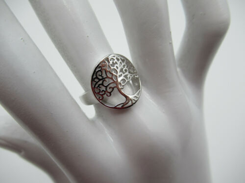 Family Love Relationships Mom Baby Gift Tree of Life Ring 925 Sterling Silver